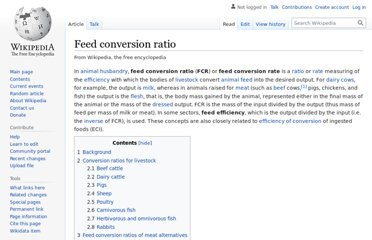 http://en.wikipedia.org/wiki/Feed_conversion_ratio