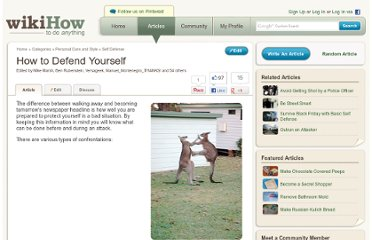 http://www.wikihow.com/Defend-Yourself