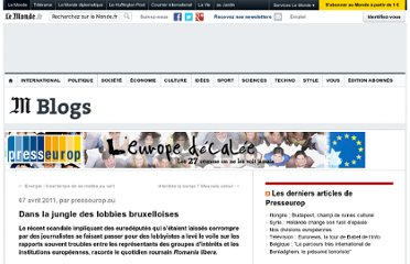 http://les27.blog.lemonde.fr/2011/04/07/dans-la-jungle-des-lobbies-bruxelloises/