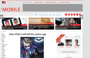 http://venturebeat.com/2011/04/07/how-html5-will-kill-the-native-app/