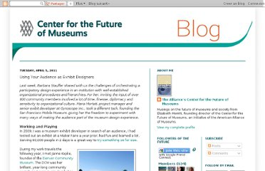 http://futureofmuseums.blogspot.com/2011/04/using-your-audience-as-exhibit.html