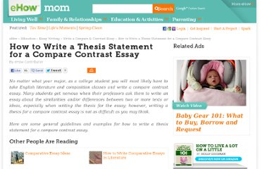http://www.ehow.com/how_5012335_write-statement-compare-contrast-essay.html