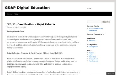 http://goodthinktank.wordpress.com/2011/03/10/3811-gamification-rajat-paharia/