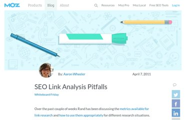 http://www.seomoz.org/blog/seo-link-analysis-pitfalls-whiteboard-friday