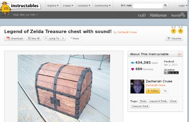 http://www.instructables.com/id/Legend-of-Zelda-Treasure-chest-with-sound/