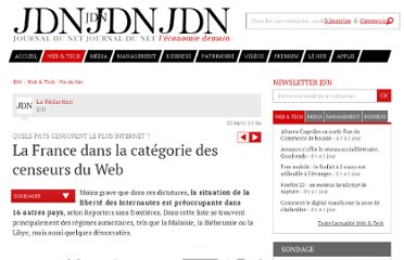 http://www.journaldunet.com/ebusiness/le-net/censure-internet/democraties-et-censure.shtml