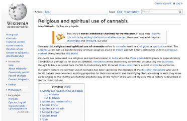 http://en.wikipedia.org/wiki/Religious_and_spiritual_use_of_cannabis