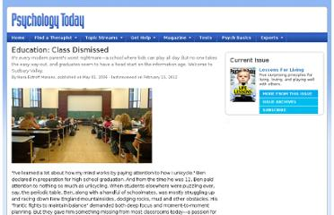 http://www.psychologytoday.com/articles/200604/education-class-dismissed