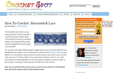 http://www.crochetspot.com/how-to-crochet-broomstick-lace/