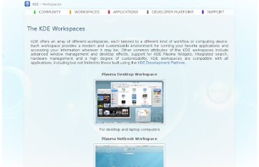 http://www.kde.org/workspaces/
