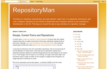 http://repositoryman.blogspot.com/2011/03/google-content-farms-and-repositories.html