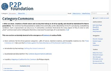 http://p2pfoundation.net/Category:Commons