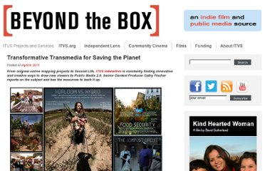 http://beyondthebox.org/transformative-transmedia-for-saving-the-planet/