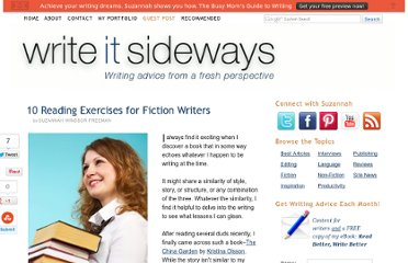http://writeitsideways.com/10-reading-exercises-for-fiction-writers/