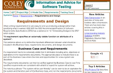 http://www.coleyconsulting.co.uk/requirements-and-design.htm