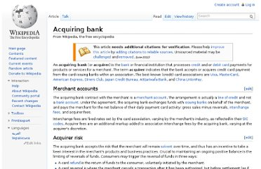 http://en.wikipedia.org/wiki/Acquiring_bank