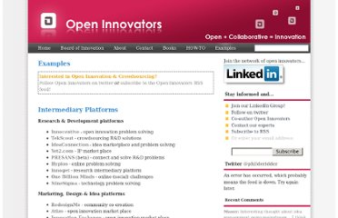 http://www.openinnovators.net/list-open-innovation-crowdsourcing-examples/