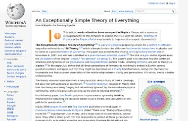 http://en.wikipedia.org/wiki/An_Exceptionally_Simple_Theory_of_Everything