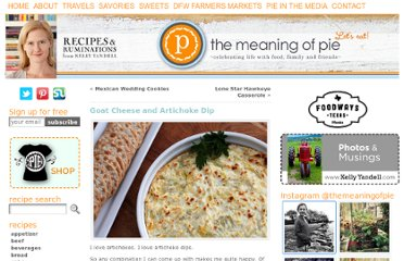 http://www.themeaningofpie.com/2010/12/goat-cheese-and-artichoke-dip/