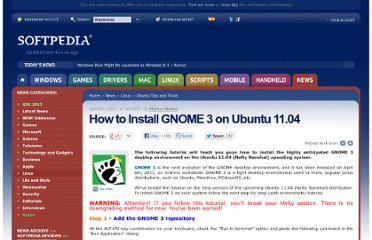 http://news.softpedia.com/news/How-to-Install-GNOME-3-on-Ubuntu-11-04-194085.shtml