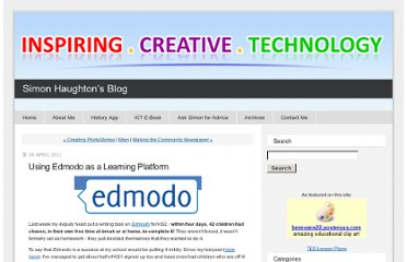 http://simonhaughton.typepad.com/ict/2011/04/using-edmodo-as-a-learning-platform.html
