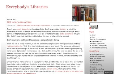 http://everybodyslibraries.com/2011/04/09/opt-in-for-open-access/