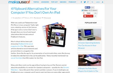 http://www.makeuseof.com/tag/4-flipboard-alternatives-computer-ipad/