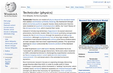 http://en.wikipedia.org/wiki/Technicolor_(physics)