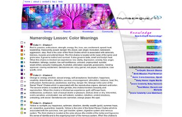http://www.numberquest.com/knowledge_color_meaning.php