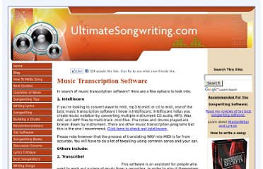 http://www.ultimatesongwriting.com/music-transcription-software.html