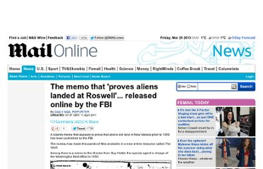 http://www.dailymail.co.uk/news/article-1375203/The-memo-proves-aliens-landed-Roswell--released-online-FBI.html
