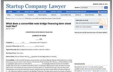 http://www.startupcompanylawyer.com/2007/04/27/what-does-a-convertible-note-bridge-financing-term-sheet-look-like/