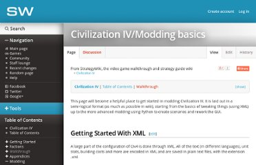 http://strategywiki.org/wiki/Civilization_IV/Modding_basics