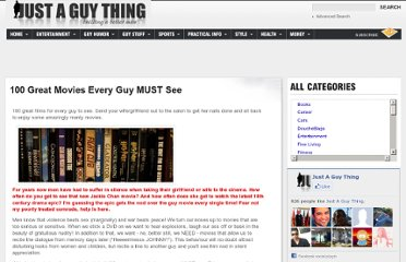 http://www.justaguything.com/100-great-movies-every-guy-should-see