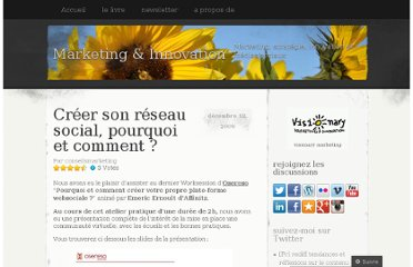 http://visionary.wordpress.com/2009/12/12/creer-son-reseau-social-pourquoi-et-comment/