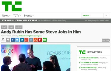 http://techcrunch.com/2010/01/06/andy-rubin-steve-jobs/