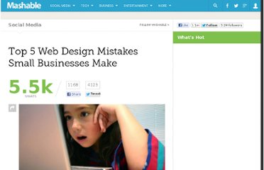 http://mashable.com/2011/04/10/5-web-design-mistakes/