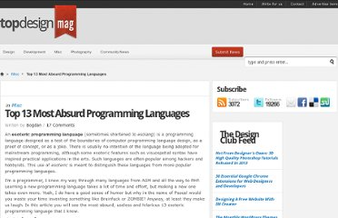 http://www.topdesignmag.com/top-13-most-absurd-programming-languages/