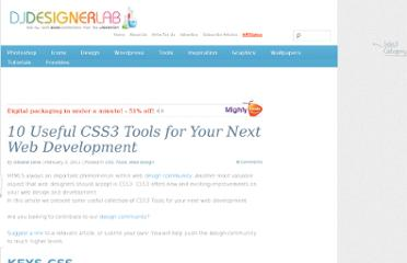 http://djdesignerlab.com/2011/02/03/10-useful-css3-tools-for-your-next-web-development/