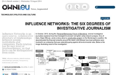 http://owni.eu/2011/04/11/influence-networks-the-six-degrees-of-investigative-journalism/