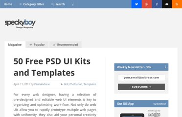 http://speckyboy.com/2011/04/11/50-free-psd-ui-kits-and-templates-for-web-designers/