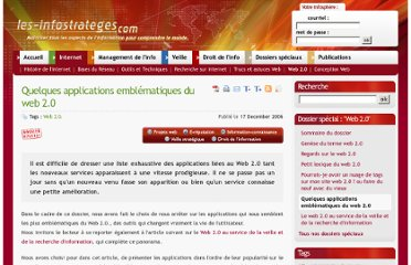 http://www.les-infostrateges.com/article/0612273/quelques-applications-emblematiques-du-web-20
