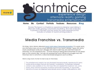 http://www.giantmice.com/archives/2011/04/media-franchise-vs-transmedia/