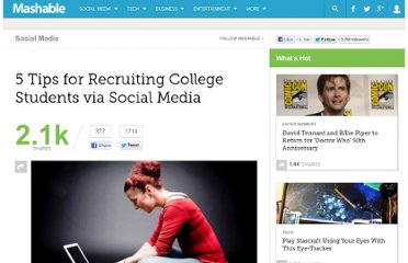 http://mashable.com/2011/04/11/recruiting-college-students-social-media/