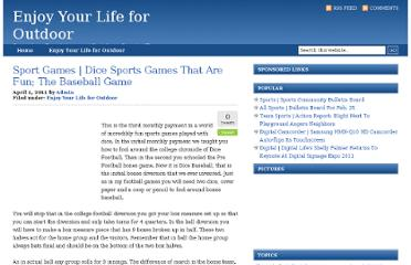 http://digital-ulife.com/Enjoy_Your_Life_for_Outdoor/sport-games-dice-sports-games-that-are-fun-the-baseball-game/