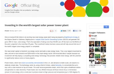 http://googleblog.blogspot.com/2011/04/investing-in-worlds-largest-solar-power.html