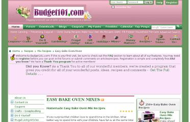http://www.budget101.com/frugal/easy-bake-oven-mixes-187/
