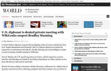 http://www.washingtonpost.com/world/un-diplomat-is-denied-unmonitored-meeting-with-wikileaks-suspect/2011/04/11/AFgfAzLD_story.html