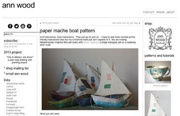 http://annwood.net/blog/2009/12/11/paper-mache-boat-pattern/