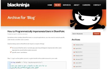 http://blackninjasoftware.com/2009/04/09/how-to-programmatically-impersonate-users-in-sharepoint/